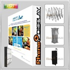 10 ft velcro fabric trade show pop up stand, straight with endcap