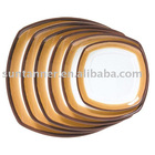 Assorted melamine square plate