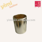 round PU leather pencil holder