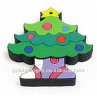 Novel Christmas tree keychain 3D keychains