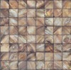 dyed/colored brown seamless chinese natural river shell tile