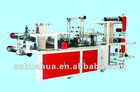 HB-500 double deck rolling flat opening&T-shirt bag making machine