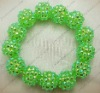 fashion cz shamballa resin pave mesh beads bracelet HU068