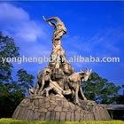 Goats bronze urban sculpture