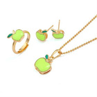 green apple shape jewelry set for a special girl