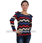 2013 latest design warming ladies tops