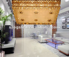Decorative hanging pendant light in golden color