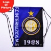 hot sell inter Milan soccer drawstring backpack