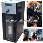 Vacuum preservation mechanical wine cooler dispenser with easy push button controls