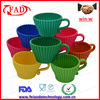 Portable Silicone Baking Form Set,Silicone Teacup Cup Cake Mould