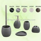 Grey Color Polyresin 5 pcs Mini Bathroom Set