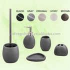 Grey Color Polyresin 5 pcs Mini Bathroom Set