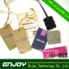 Paper clothing tags with printing for shopping malls tag