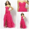 MP1407 Custom-made Sexy Sweetheart Sleeveless Hot-sale Backless 2012 Hi-Lo Prom Dress