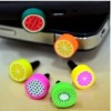 2012 fashion fruit pattern dustproof plug for phone and other cellphones