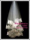 Champagne Peony Flowered Veil