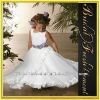 Hot Sale Long Organza Ruffled Kids Bridal Dresses