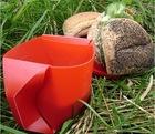 2 x Portable Folding DIY Cup Mug for Camp Travel Picnic