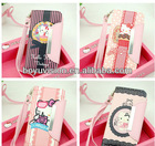 Lovely hello kitty leather case for iphone 4 5 With Credit Card Holder