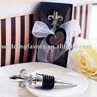 Fleur de Lis Elegant Chrome Bottle Stopper Wedding Favors