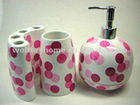 ceramic soap dispenser/toothbrush holder/tumbler/soap dish bathroom accessories set