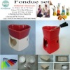 Ceramic fondue set for romantic