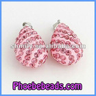 Wholesale Micro Pave Pink Crystal Teardrop Pendant and Charms CNP-Z07