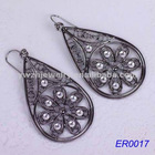 Design fashion flower with crystal earing 2012