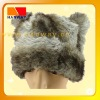 Fashion fake fur animal shape winter bucket hat with polyfil lining