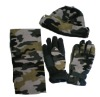 polar fleece set/fleece hat scarf gloves