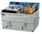 24L Counter Top Electric Fryer (Double tanks&8L each tank) with CE approval