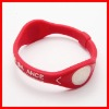 Red fashionable energe energy silicone bracelet