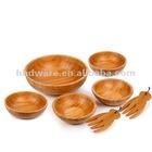 Bamboo Salad Bowl set