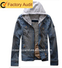 NEW fashion hooded denim jacket for men