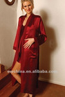red luxury nice nightwear silk robe