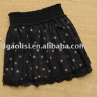 Lace Covered black pleated Skirt