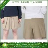 Summer School Girls' Khaki Fake 2pcs Short & Skirt