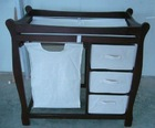 Baby changing table with hamper and three baskets