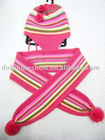 kids scarf and hat set