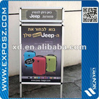 Aluminum Double Sides Poster A board With Top Header
