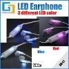 LED earphone LED light earphone