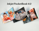 cast coated glossy photo paper with 3 binding rings,white cover,used by free software perfect DIY 4:3 hand book