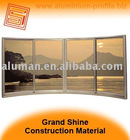 Bow window, sliding aluminum window