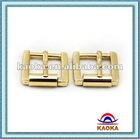 Gold Zinc alloy pin blank belt buckle