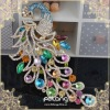 2012 newest design fashion peacock hair barrette with colors stone ,Luxurious And Noble Crystal Peacock Hair Barrette