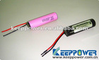 KeepPower Protected Li ion rechargeable batteries for lighting 3.7V 2.6Ah