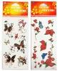 cartoon butterfly flower tattoo sticker