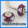 Silver Pave Beads Crystal Ball WBSCS12