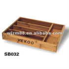 Bamboo cutlery tray/utensil box