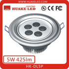 Newest!!! Epistar chip ABS shell 470lm 5*1W LED Downlight HK-DL5P